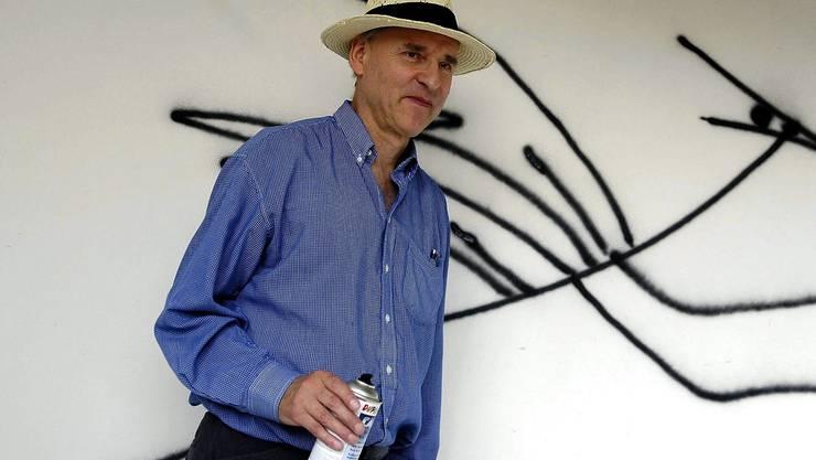 Harald Nägeli rät jungen Künstlern, die Finger von Kunst zu lassen.