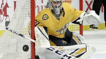 Der finnische Torhüter Juuse Saros feierte zum Auftakt des Jahres einen Shutout beim Sieg der Nashville Predators gegen die Philadelphia Flyers