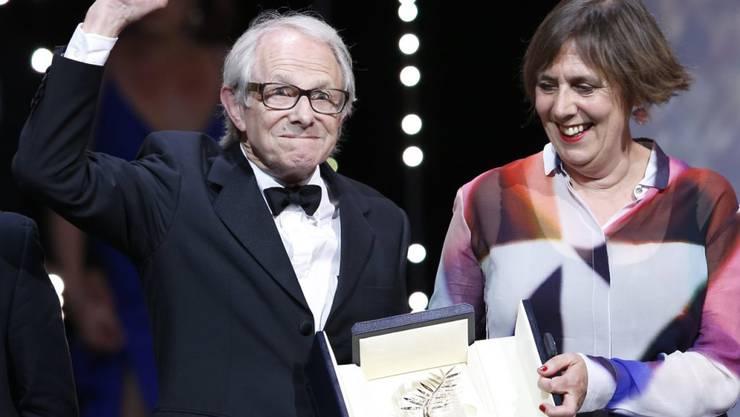 Kämpferischer Regisseur: Ken Loach mit seiner Produzentin Rebecca O'Brien in Cannes.
