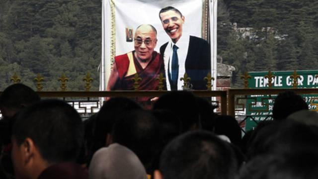 Ein früheres Bild des Dalai Lama mit den US-Präsidenten