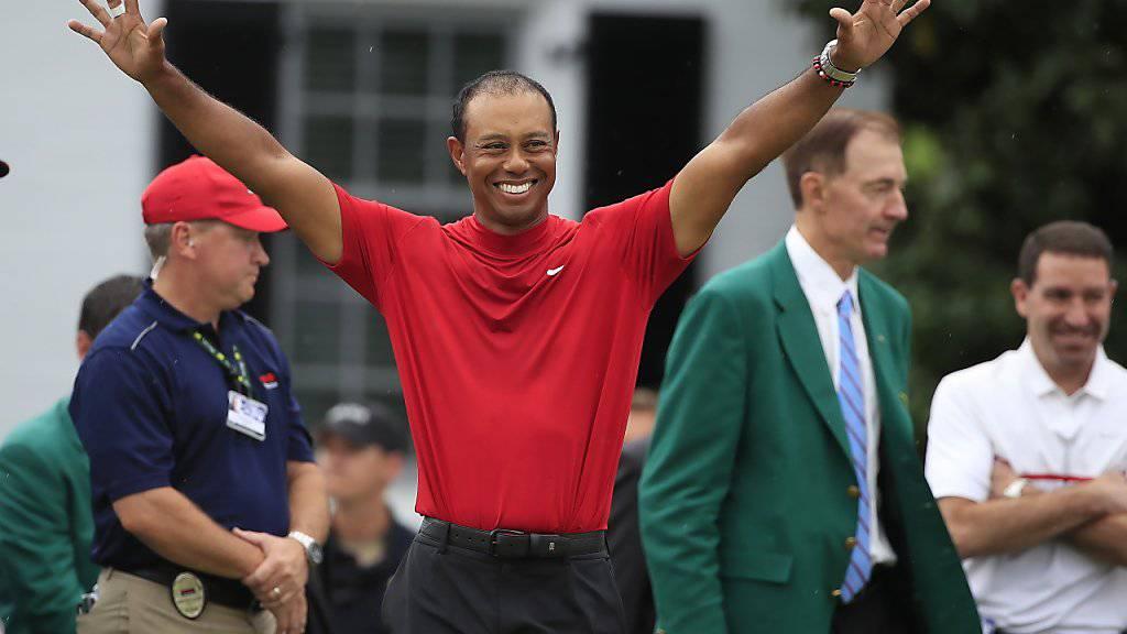 Am US Masters in Augusta hätte man Tiger Woods für Zahnpasta-Werbung einsetzen können