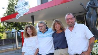 Die Reinacher Saalbaukommission präsentiert das Programm 2020/21: Daniel Marzohl, Ruedi Hug Silvia Reidy und Markus Peter (v.l.)