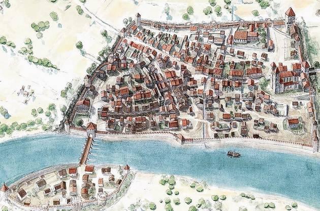 Im 13. Jahrhundert wurde die Stadtmauer vergrössert.