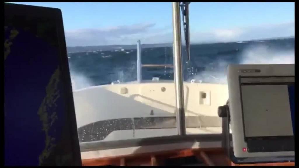 Zwei-Meter-Wellen auf dem Bodensee: So fegte der Sturm übers FM1-Land