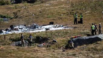Helikopter-Absturz: Weitere Aufnahmen des Unfallortes am Mittwochabend.
