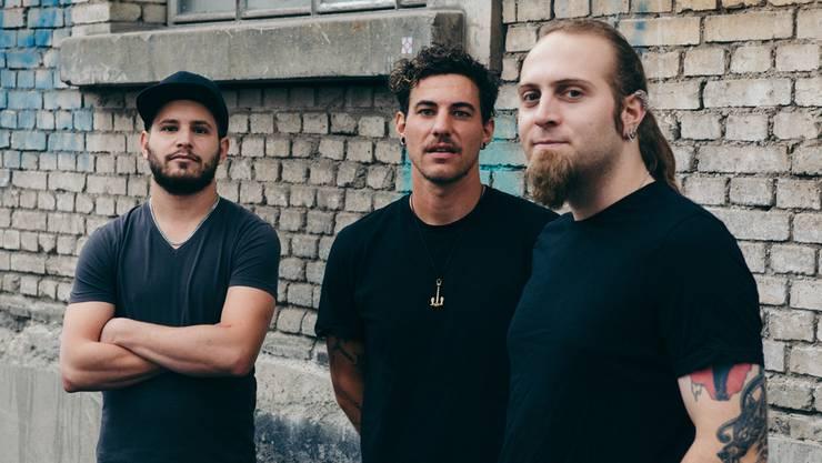 Langjährige Punkband mit drei Mitgliedern: Simon Graf, Simon Mäder, Luca Maurer (v.l.). Roman Gaigg