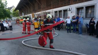 Feuerwehr rettet im Ernstfall auch Tiere