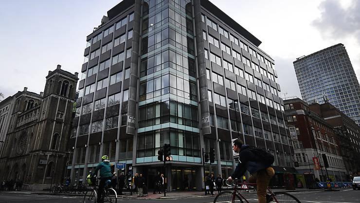 Blick auf das Gebäude, in dem sich die Büros von Cambridge Analytica in London befinden.