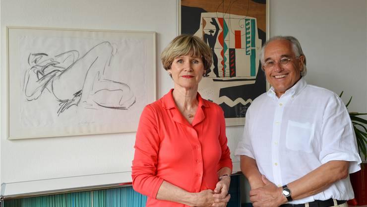 Gabriele Bono und Roland Winiger wollen mit dem Kunstverein weiterhin Präsenz markieren.
