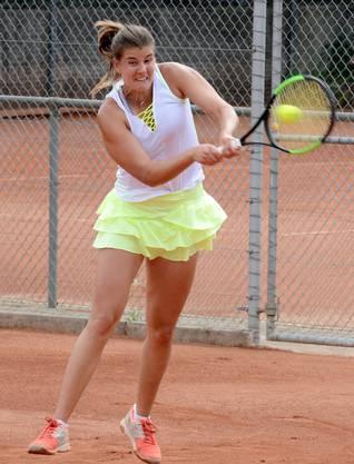 Daniela Vukovic punktete für den TC Zofingen im Doppel.