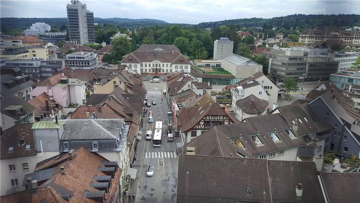 Die Vordere Vorstadt führt vom Oberturm bis zum Regierungsgebäude. Sie ist in einem schlechten Zustand. AZ/Archiv