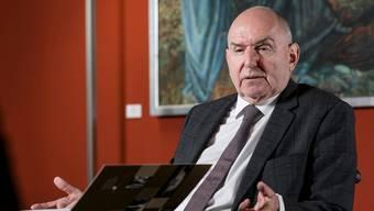 In der Kritik: Bundesgerichtspräsident Ulrich Meyer im Interview mit CH Media. (Bild: Sandra Ardizzone)