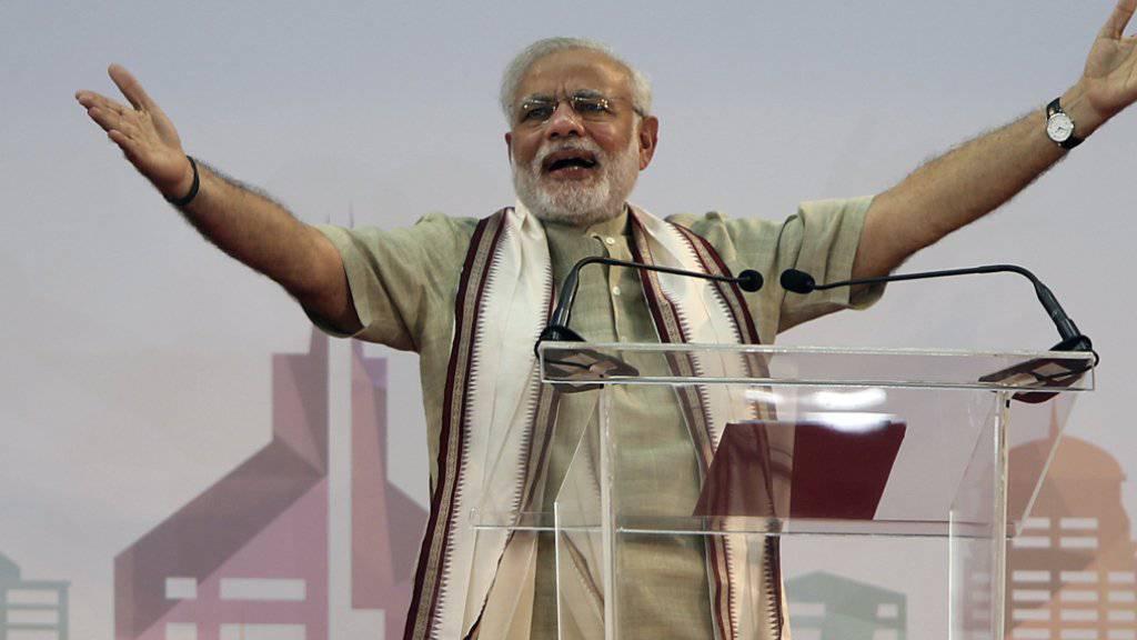 Indiens Regierungschef Narendra Modi wird nun an seinen Wahlversprechen gemessen