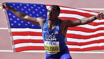 100-m-Weltmeister Christian Coleman droht nun eine Sperre