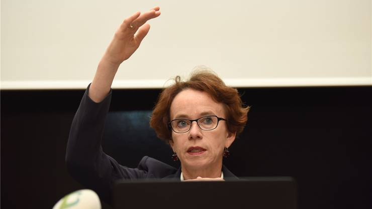 Eva Herzog budgetiert einen guten Überschuss für 2019.