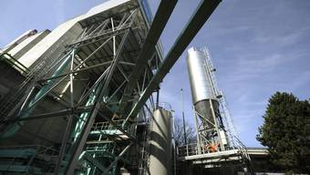 Holzheizkraftwerk (im Bild dasjenige von Aubrugg)