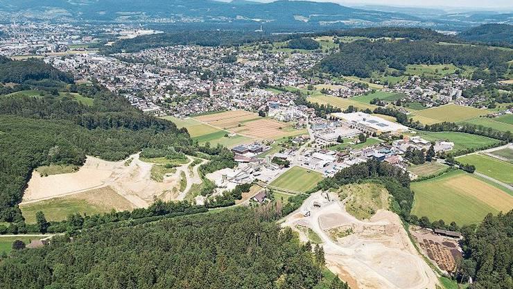 Das Abbaugebiet rechts würde bis 2056 mehr als verdoppelt.