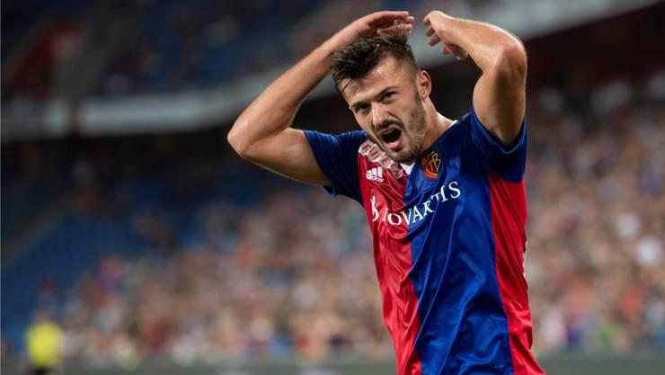 Albian Ajeti ist mit 12 Toren und 7 Assists der beste Skorer der Hinrunde beim FC Basel.