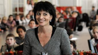 Doris Leuthard empfängt Schulklassen in Bern