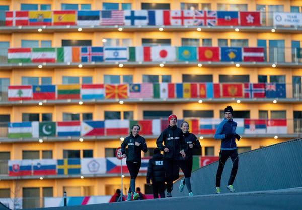 Das Olympische Dorf im neuen Vortex-Gebäude ist der Treffpunkt für die Athleten aus 79 Nationen.