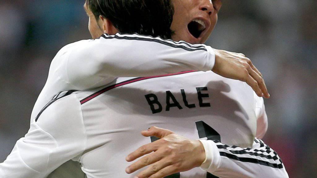 Angeblich vor einer Vertragsverlängerung bei Real Madrid: Cristiano Ronaldo und Gareth Bale