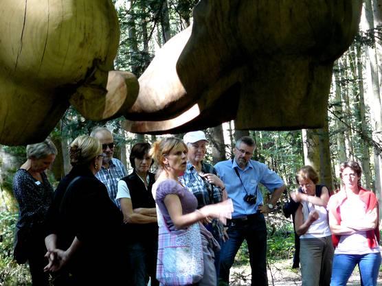 Seine Stiefel hängen seit gut einem Jahr im Wohler Wald: Der Stifeliryter.