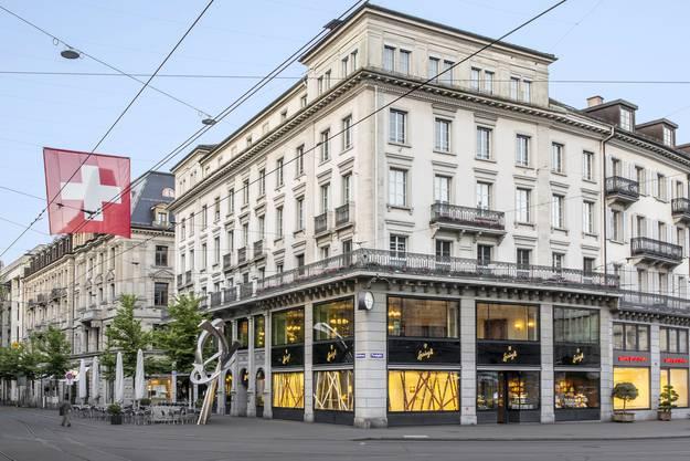 Die Sprüngli-Filiale am Paradeplatz in Zürich.