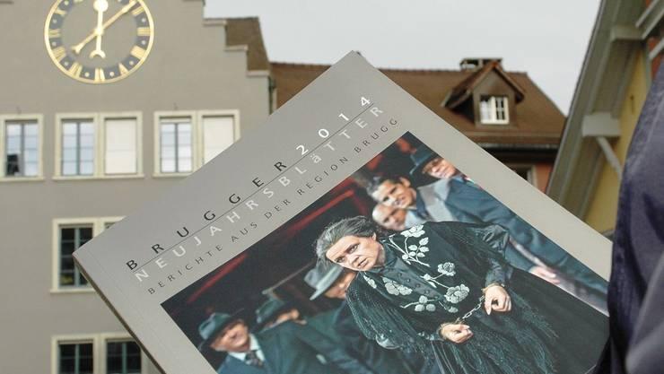 Umschlag der Brugger Neujahrsblätter 2014 mit einer «Trovatore»-Szene. Mhu