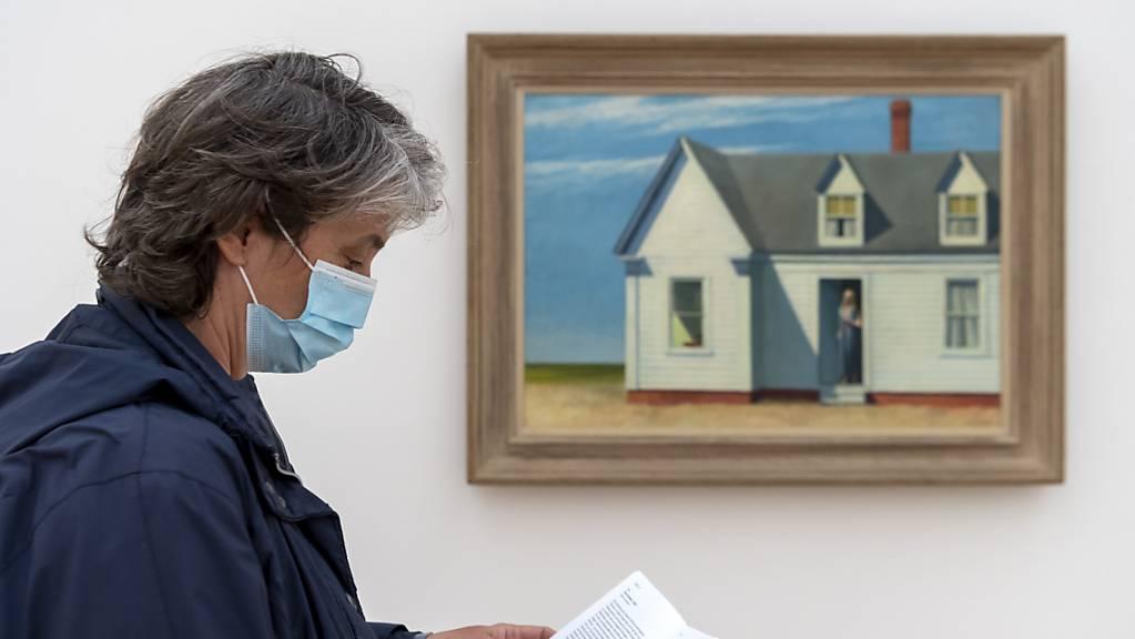 Die Ausstellung mit Werken von Edward Hopper lockte 2020 trotz Corona-Lockdown 255'000 Besucherinnen und Besucher in die Fondation Beyeler.