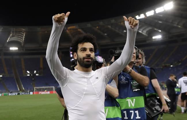 Daumen hoch bei Superstar Mo Salah