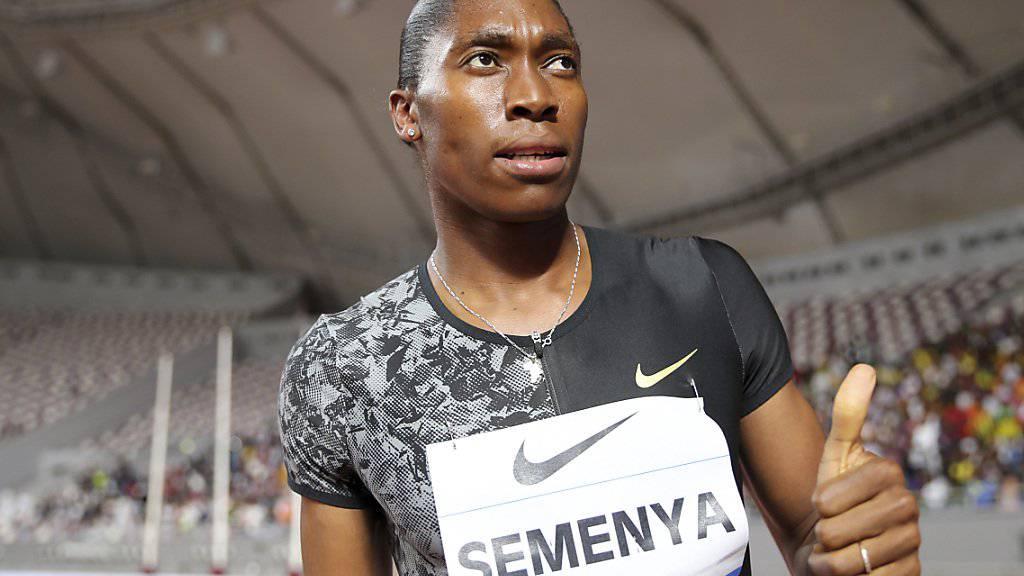 Daumen hoch, aber mehr nicht: Caster Semenya nach ihrem Sieg in Doha.