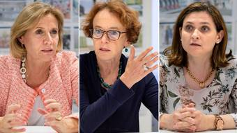 Ständerats-Kandidatinnen im Dreierinterview: Patricia von Falkenstein, Eva Herzog und Gianna Hablützel-Bürki.