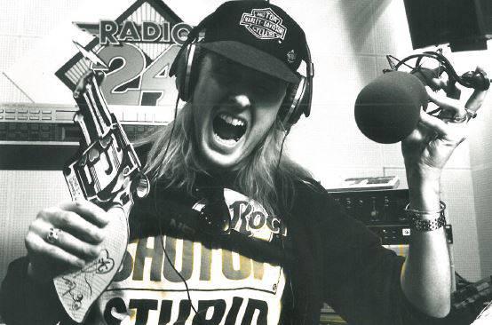Chris von Rohr bei Radio 24, 1989