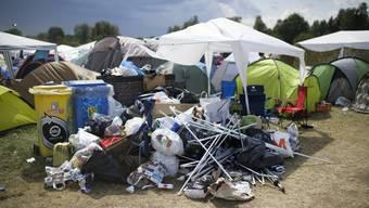 Abfallsünder am Openair Frauenfeld: Doch nicht alle Jugendliche werfen ihren Müll auf den Boden. (Archivbild)