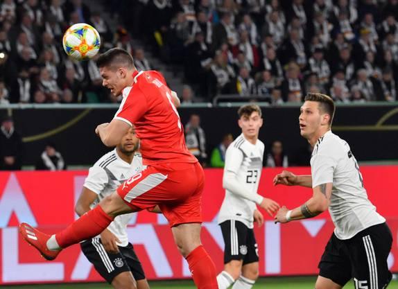 Luka Jović und sein Befreiungstreffer zum 1:0 gegen Deutschland.
