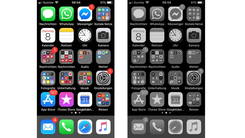 Handy-Auszeit mit schwarz-weissem Bildschirm