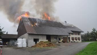 Bauernhaus in Günsberg brennt vollständig nieder