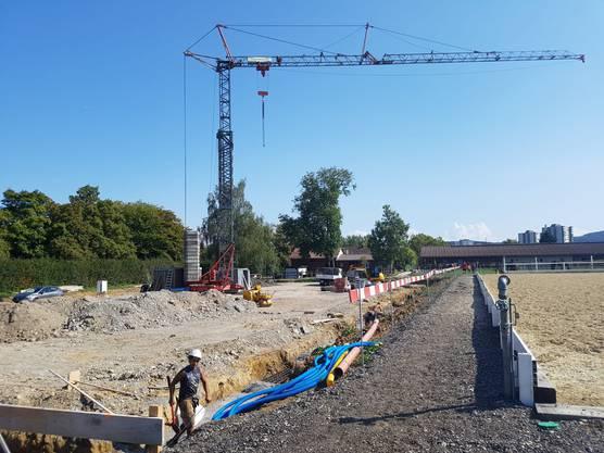 Impressionen von der Baustelle auf der Reitsportanlage...