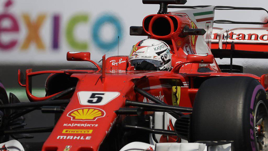 Sebastian Vettel holt in Mexiko seine 50. Pole-Position