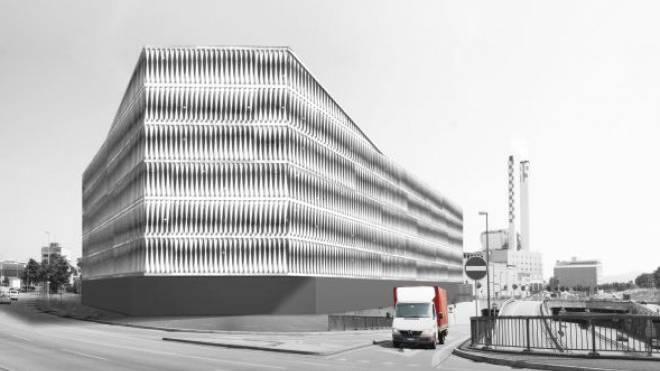 Die Zürcher Architekten Burkhalter Sumi haben einen Vorschlag für ein Gewerbehaus entworfen. Kostenpunkt: 53 Millionen Franken. Foto: ZVG