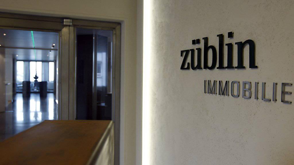 Das Immobilienunternehmen Züblin verzeichnet im abgelaufenen Geschäftsjahr höhere Mieterträge. Wegen Einmaleffekten resultierte dennoch ein Verlust von gut 29 Millionen Franken. (Archiv)