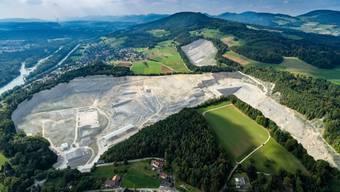 So sieht das Abbaugebiet Jakobsberg Egg im Jahr 2016 aus.