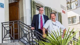 Sven Eisenhardt (l.) und Otto Steiner übernehmen gemeinsam die Geschäftsführung des Hotels Balsthal.