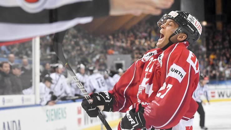 Der Klotener Eric Faille, an Silvester noch Spengler-Cup-Sieger mit dem Team Canada, nahm den Schwung mit in die Swiss League: 5 Skorerpunkte gegen die EVZ Academy