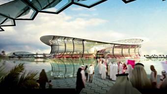 WM 2022: Ein Fussballfest auf Kosten der Gastarbeiter? Das Lusail Iconic Stadium in Lusail City, Katar.