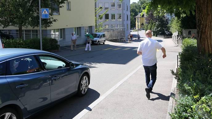 Auf diesem Strassenabschnitt (Leberngasse) wurde der fehlbare Lenker mit 69 km/h registriert.