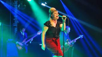 Nicole Bernegger bei ihrem begeisternden Auftritt an der 17. Rock-Night in Magden.