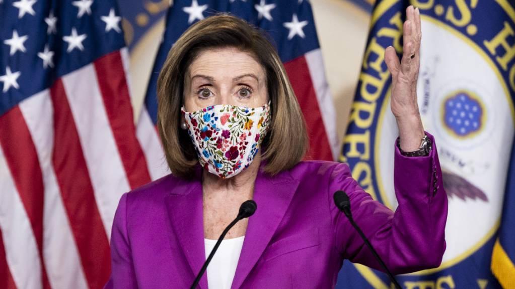 Nancy Pelosi, Sprecherin des Repräsentantenhauses, spricht während einer Pressekonferenz in Washington. Foto: Michael Brochstein/ZUMA Wire/dpa