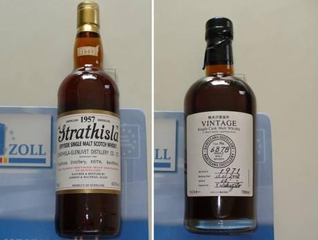 Geschmuggelte und kostbare Whisky-Flaschen