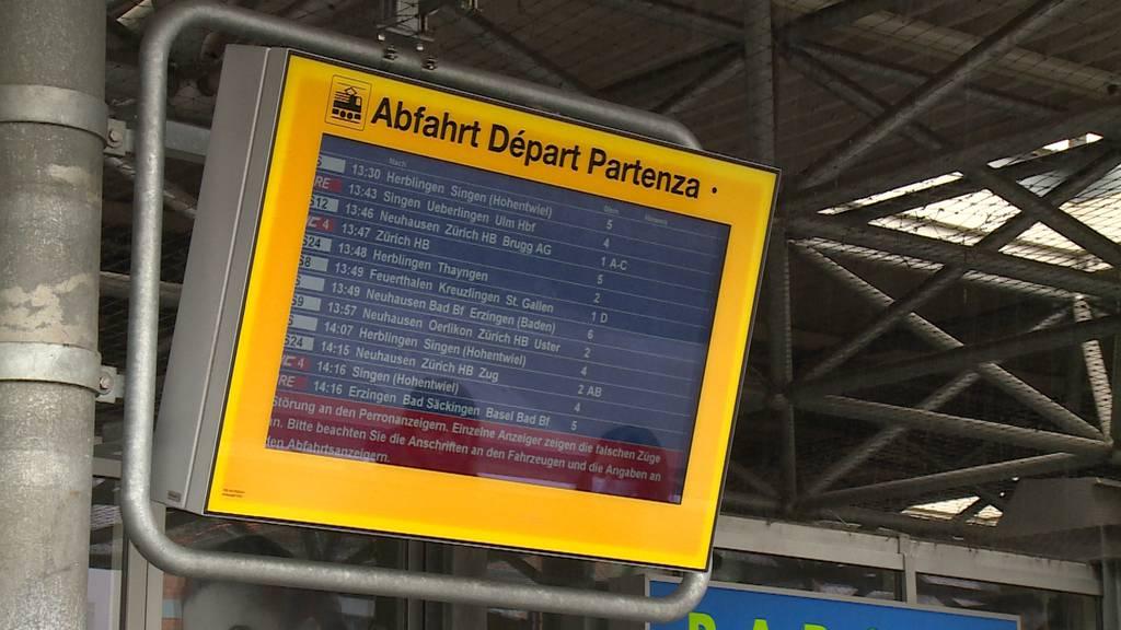 Mehrere Stunden ausser Betrieb: Schweizweite Störung der SBB-Anzeigen